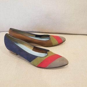 Jack Rogers Vintage Leather Striped Loafer Sz 9